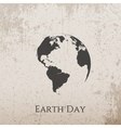 Earth Day grunge concrete Banner Design vector image vector image
