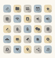Flat Design Website Icons Set vector image vector image