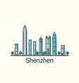 flat line shenzhen banner vector image vector image