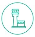 Flight control tower line icon vector image vector image