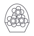 flowers vase line icon sign vector image