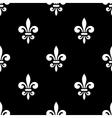 Golden fleur-de-lis seamless pattern black 5 vector image vector image