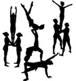 gymnasts acrobats vector image