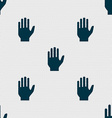 Hand print sign icon Stop symbol Seamless abstract vector image