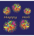 Happy Holi colourful background vector image vector image