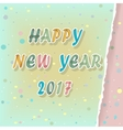 Happy new year 2017 Watercolor Greeting card vector image vector image