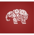India - parsley patterned elephant Indian icon vector image