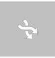 intersection arrow computer symbol vector image vector image
