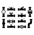 isolated pipes icons vector image vector image