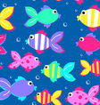 Little tropical fish swimming seamless pattern vector image
