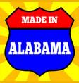 made in alabama shield vector image vector image