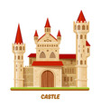 medieval castle or fairy palace fantasy kingdom vector image