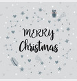 merry christmas design for holiday greeting card vector image vector image