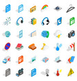 mobile app icons set isometric style vector image vector image