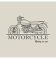 Motorcycle poster logo retro vector image vector image