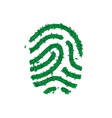 nature fingerprint concept made green leaves vector image
