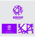 needlework logo shop handmade ravel ball vector image