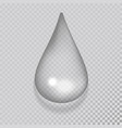 realistic water drop liquid transparent raindrop vector image vector image