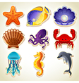 Sea animals icons vector | Price: 3 Credits (USD $3)