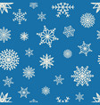 seamless pattern hand drawn white snow flakes vector image vector image