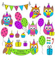 set of isolated birthday party elements vector image