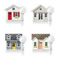 set of small houses and keys vector image