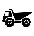 silhouette dump truck vector image vector image