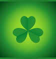 simple graphic of three leaved shamrock vector image vector image