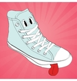 sneaker character cartoon design vector image vector image