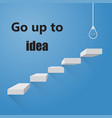 stairway to go to ideas bright idea on colorful vector image vector image
