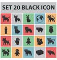 toy animals black icons in set collection for vector image vector image