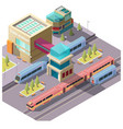 train station building isometric vector image vector image
