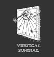 vertical sundial vector image vector image