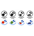 wash before eating set symbols black and color vector image