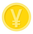 yen coin flat icon business and finance money vector image vector image