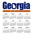 2017 Georgia calendar vector image vector image