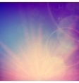 Abstract Sunset on sky with lenses flare
