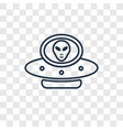 alien with aqualung concept linear icon isolated vector image