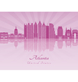 Atlanta V2 skyline in purple radiant orchid vector image vector image