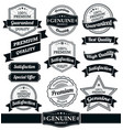 badges and ribbons collection vector image vector image