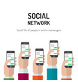 banner social networks vector image vector image