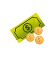 bills dollar with economy icon vector image vector image