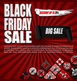 black friday sale banner with gift boxes vector image vector image