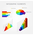 Bright isometric infographics elements vector image
