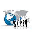 Business people silhouettes with building vector image vector image