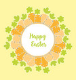 card with easter carrot vector image vector image