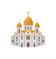 cartoon church of christian denomination decorated vector image