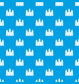 castle tower pattern seamless blue vector image vector image