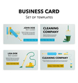 Cleaning company business cards set
