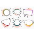 comic white speech bubbles set vector image